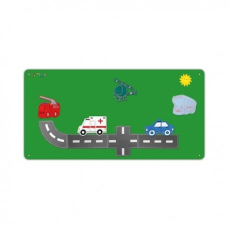 Vehicles metal board with 10 figures
