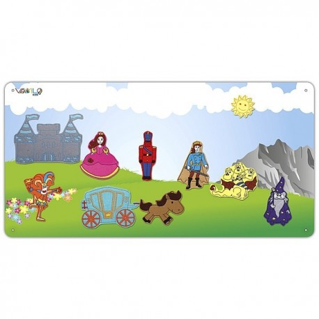 Kingdom metal board with 10 figures for boys