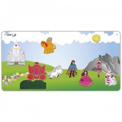 Kingdom metal board with 10 figures for girls