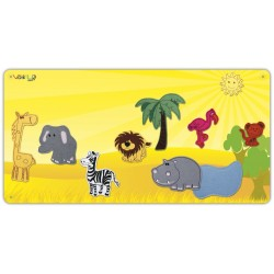 Savanna metal board with 10 figures