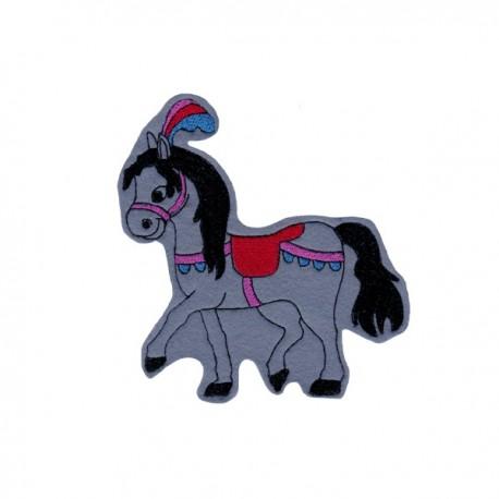 Cirkuszi ló - szürke