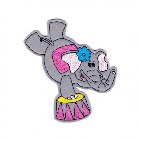 Circus elephant - girl
