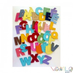 Alphabet + 40 cm x 25 cm striped metal board