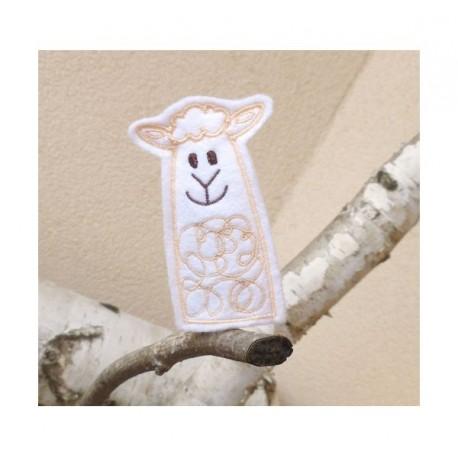 Lamb finger puppet