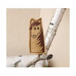 Horse finger puppet