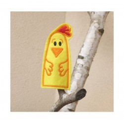 Chicken finger puppet