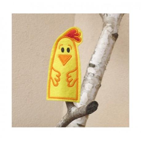 Chicken finger puppet