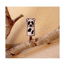 Panda finger puppet