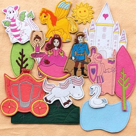 Királyság csomag lányoknak - 15 darab figura