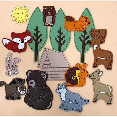 Erdő csomag - 15 darab figura