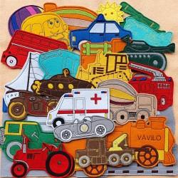 Járművek csomag - 30 darab figura