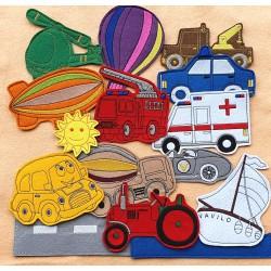 Járművek csomag - 15 darab figura
