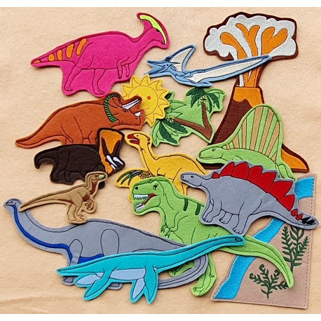 Dinosaurs package - 15 pieces