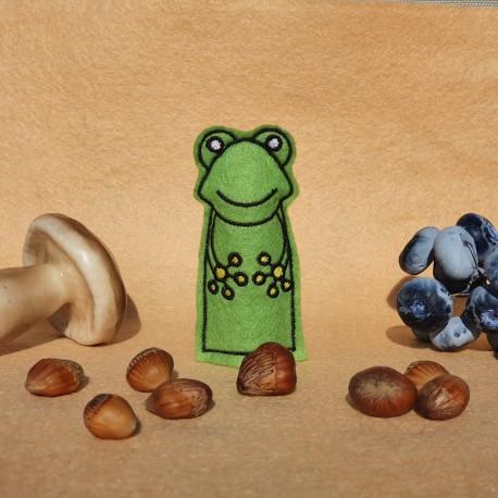 Frog finger puppet