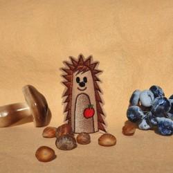 Hedgehog finger puppet