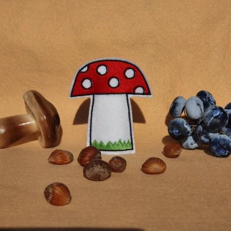 Mushroom finger puppet