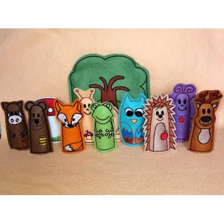 Farm finger puppets