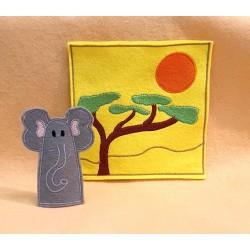 Elefánt ujjbáb