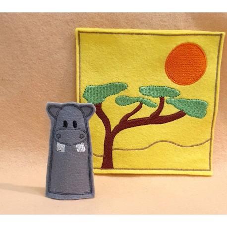 Hippo finger puppet
